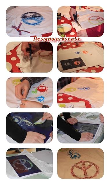 Textildesign mit Schablonen, Kinder kreieren ihre Eigene Mode mit Stoffmalfarben