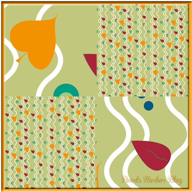 Stoffdesign Herbstzeitlose2013 auf Pearl's Harbor Blog Millefleur
