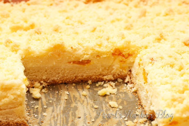 Pearl's Harbor Blog: Blechkuchen - Mandarinen-Käse-Streusel