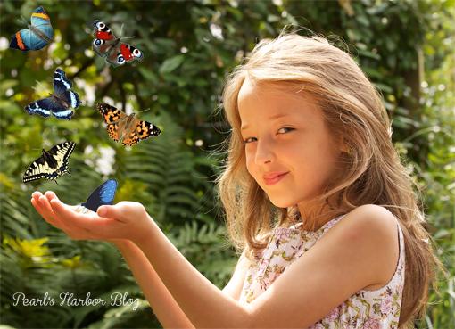 Pearl's Harbor Blog: Mädchen mit Schmetterlingen - Bildbearbeitung