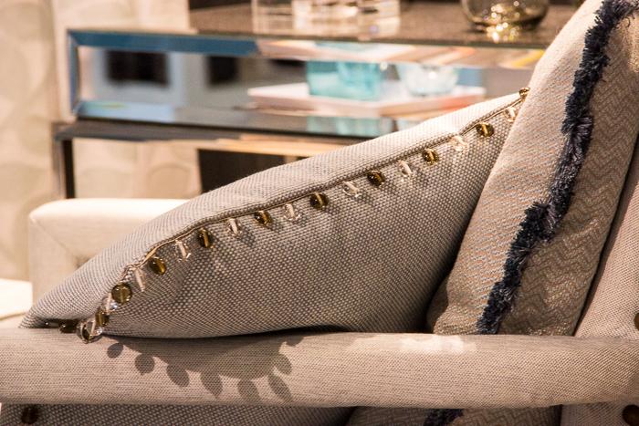 Trends von der Heimtextil: Kissen mit Perlenborte