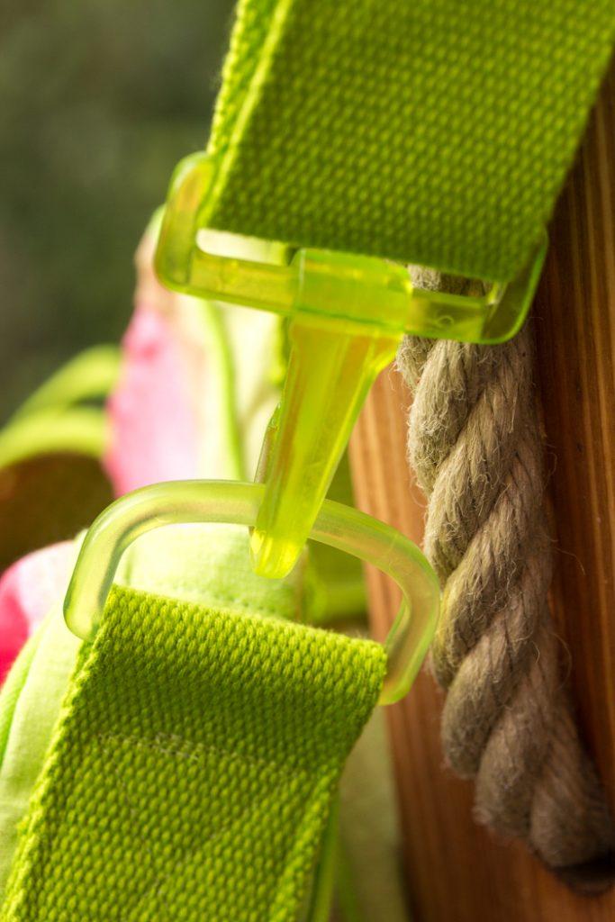 Karabiner in Grün von Unionknopf - Kostenlose Anleitung Taschengurt