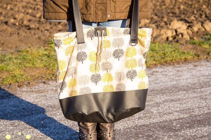 Tipps zum Nähen für eine Shoppingtasche, erweiterbar.