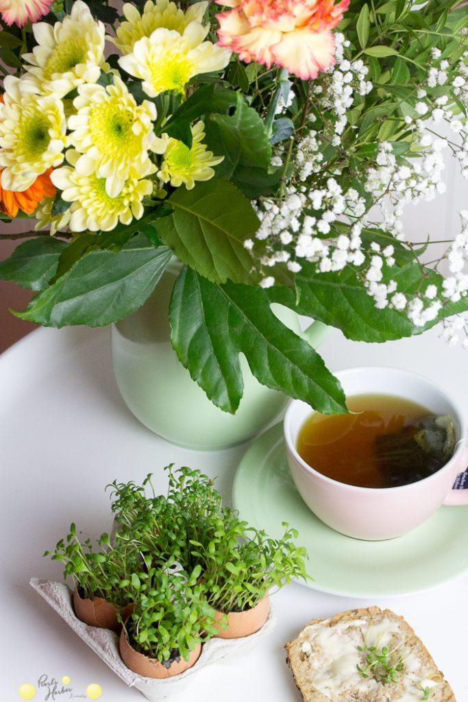 schnelles DIY für den Osterbrunch, Tischdeko Ostern