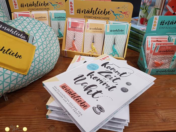 Bücher und Nähzubehör auf der #hhcologne 2018 vom Frechverlag #nähliebe