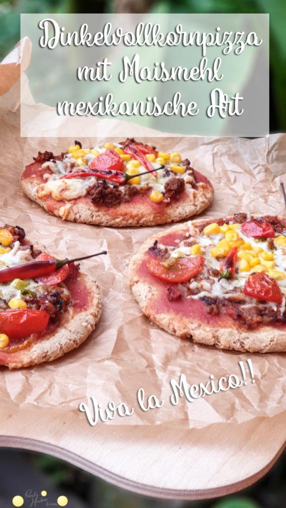 Vollkornpizza mit Maismehl
