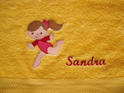 Handtücher besticken mit der Stickmaschine