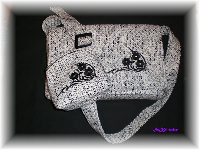 Handtasche selbstentworfen und genäht – Weihnachtsgeschenk für meine Mutter