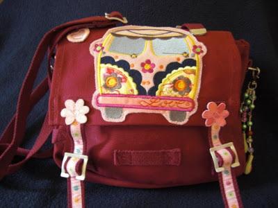 Bus-Stickmuster zum Tasche pimpne – Kindergartentasche