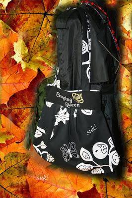 Riesengroße Tasche selbstgenäht für die Shopping Queen