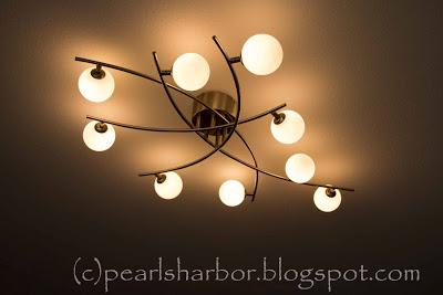 Lampe montiert und weiter geht es: Wohnzimmerrenovierung
