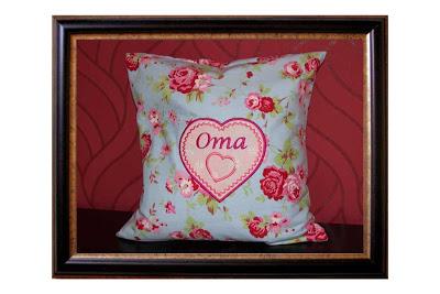 Endlich mal wieder genäht: Ein Kissen mit Hotelverschluss für die Oma