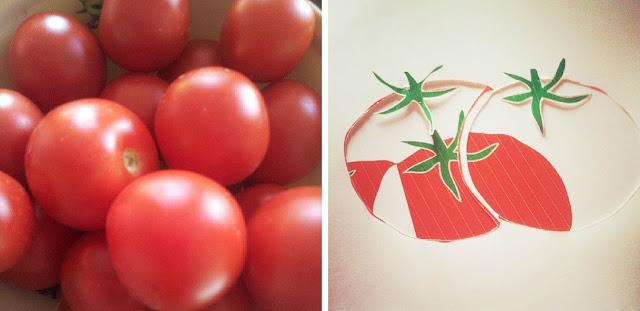 Grüne Tomaten {DIY – Schablonentechnik}