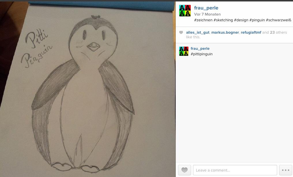 Darf ich vorstellen…Pitti Pinguin {Grafikdesign}