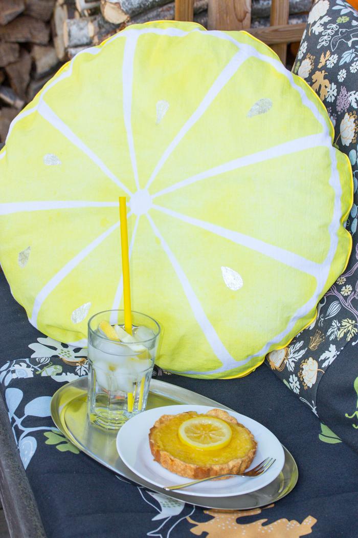 Zitronenkissen {DIY – Nähen}