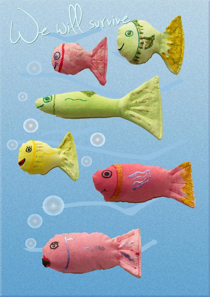 Kleine Fische – große Wirkung: Die WWF Häkeldemo