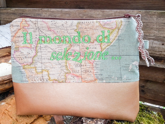 Einmal um die ganze Welt… mit der Landkarte auf der Kosmetiktasche