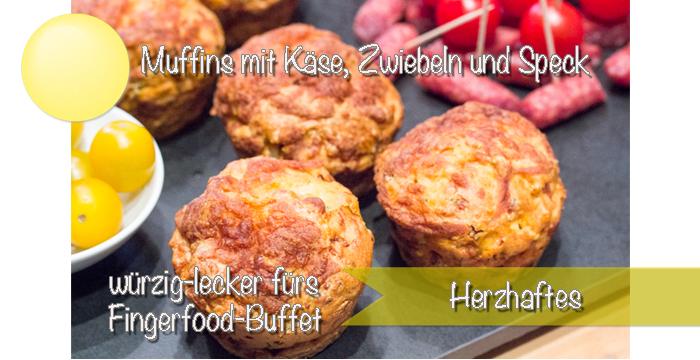 Würzige Muffins fürs Fingerfood-Buffet {Rezept}