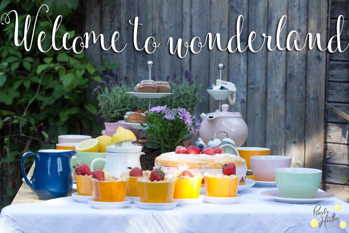 Teatime mit Alice im Wunderland – Rezepte rund um die Erdbeere