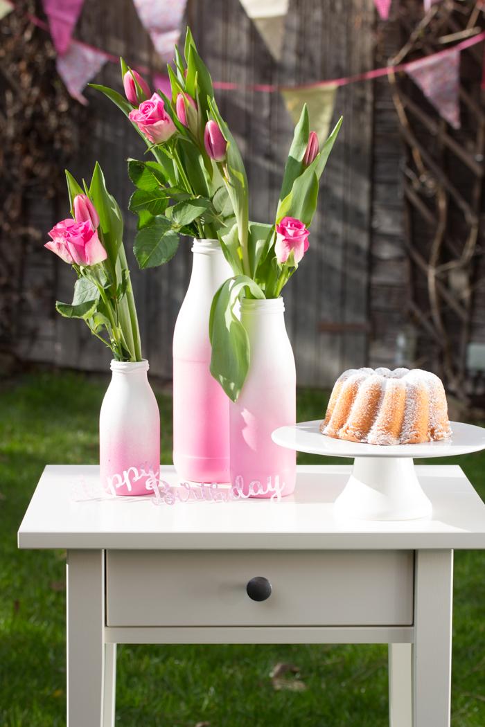 Mit fröhlich frischem DIY den Frühling locken – Upcycling mit Spühfarbe