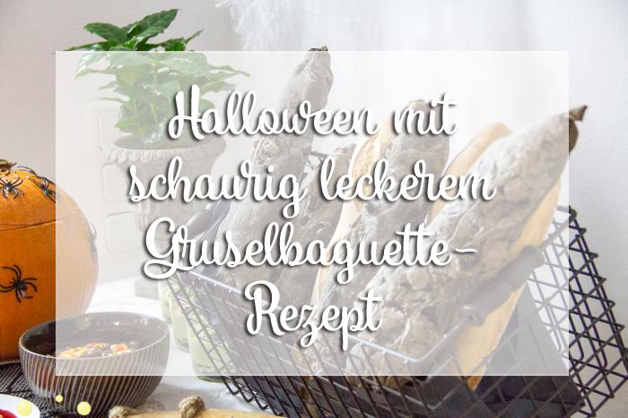 Leckeres schwarzes Baguette nicht nur zu Halloween