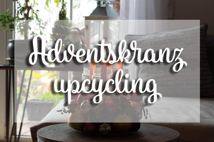 Adventskranz upcycling – basteln im Advent