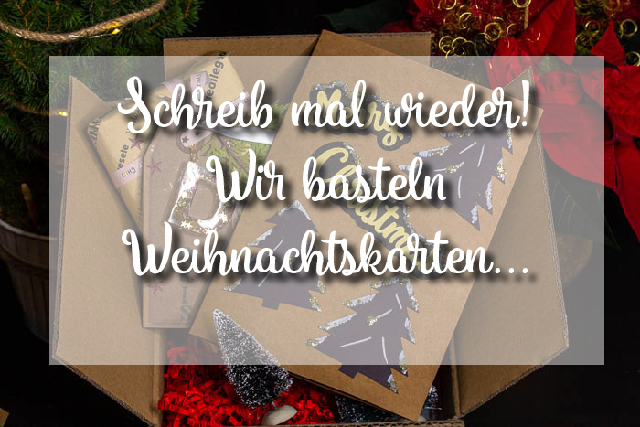 Stempel selbstmachen und Weihnachtskarten basteln