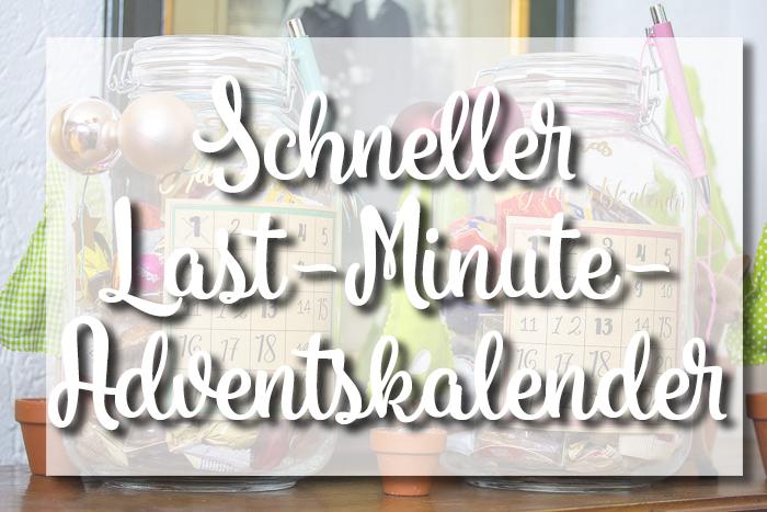 DIY schneller Last-Minute-Adventskalender